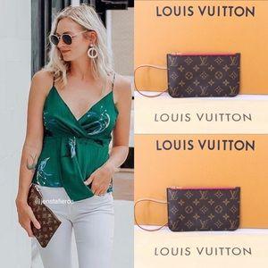 ✨Authentic✨Louis Vuitton Clutch BROWN ZIPPER